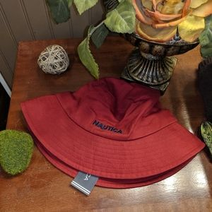"""New Red Nautica """"Boating"""" Hat One Size fits all"""